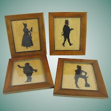 Antique Hand Cut Silhouettes Charles Dickens Characters