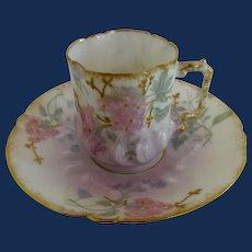 Limoges Demitasse cup and saucer set