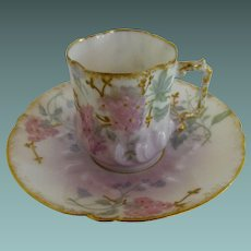 Limoges Demitasse cup and saucer set