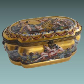 """Capodimonte """"Casket"""" box"""