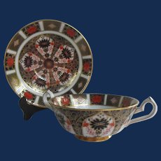 Royal Crown Derby Cream Soup and Underplate in Old Imari