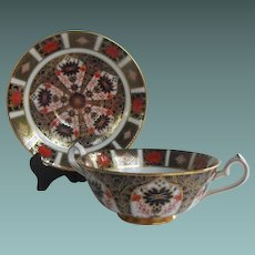 Royal Crown Derby Footed Cup and Saucer Old Imari