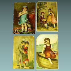 Trade Card: Group of four 19th century cards