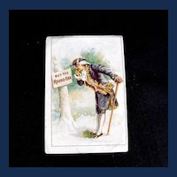 Trade Card: The Round Oak, Wood Burning Stoves