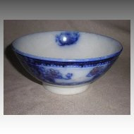 "Beautiful English Wood & Sons ""Seville"" Flow Blue Bowl"