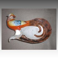 Magnificent Antique Porcelain Bird Dresser / Pin Dish