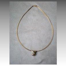 Magnificent Designer Made 14k Gold Pendant Necklace
