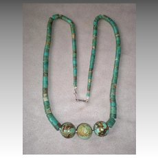Magnificent Turquoise Bead Necklace