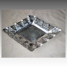 Ornate Walker Hall Sheffield Silver Plate Diamond Shape Tray