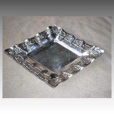 Ornate Walker Hall Sheffield Silver Plate Diamond Shape Tray