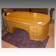 Stunning Early 1900's Oak Partners Desk