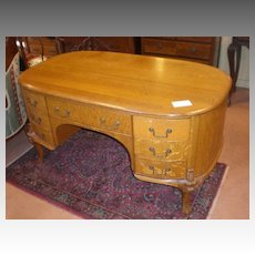 Stunning Early 1900's Oak Partners Desk