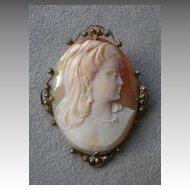 Gorgeous Victorian Cameo Pendant / Pin