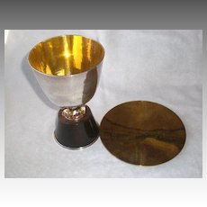 Magnificent German Sterling Silver Communion Set w/ Presentation Box