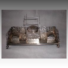 Magnificent Bigelow, Kennard Sterling Silver Inkwell or Ink Stand