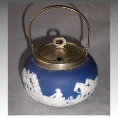 Fabulous Adams Japserware Jam Pot with Hunt Scene