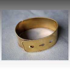 Marvelous Victorian 14k Gold Wide Cuff Bracelet
