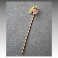 Fabulous Black Hills Gold Stick Pin