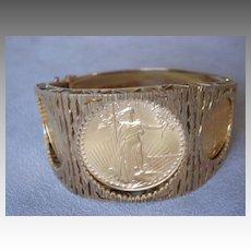 Stunning American Gold Eagle Coin Bracelet