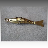 Fun Reticulated 10k Gold Fish Charm for Bracelet