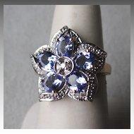 Stunning 14k Gold and Tanzanite / Diamond Ring