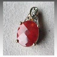 Beautiful 14k Gold and Hessonite Garnet Pendant