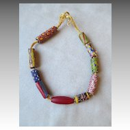 Fabulous Antique African Trade Bead Necklace