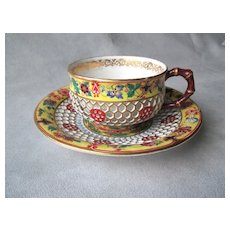Chamberlains Worcester Honeycomb Cup and Saucer - Red Tag Sale Item