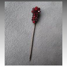 Vintage Bohemian Garnet Stick Pin