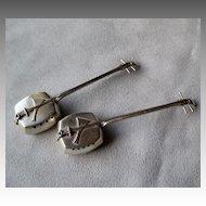 "Sterling ""950"" Silver Mandolin Salt & Pepper Shakers"