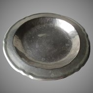 Hand Hammered 900 Silver Tray from Mexico