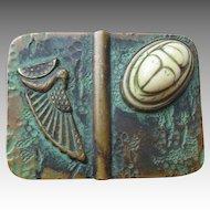Edwardian Bronze Egyptian Theme Pin or Brooch