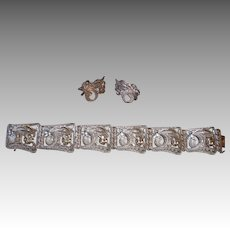 Birks Sterling Silver Filigree Bracelet & Earrings