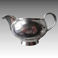 Antique Russian Silver Bright Cut Nouveau Cream Pitcher