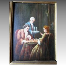 "Original Oil Painting by Dutch Artist ""Johannes van der Heijdden"""