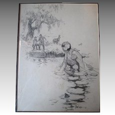 Original Saturday Evening Post Illustration - Raeburn Van Buren