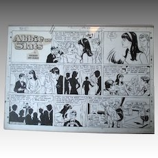 "Original ""Abbie an' Slats"" Cartoon Illustration - Raeburn Van Buren"