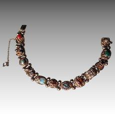 Vintage 14k Gold Slide Bracelet