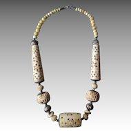 Carved Bone Ethnic Necklace