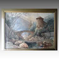 Original Watercolor Landscape Painting - W. Livingstone Anderson (1856-1893)