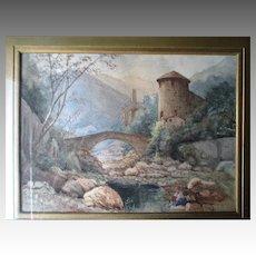 Original Watercolor Landscape Painting - W. Livingstone Anderson (1856-1893)