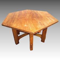 Original Gustav Stickley Hexagonal Library Table - #624