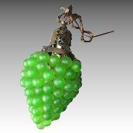 Stunning Vintage Glass Grape Cluster Hanging Lamp
