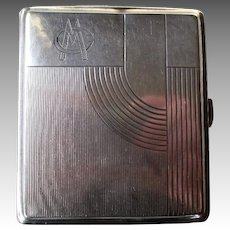 Art Deco 800 Silver Cigarette Case