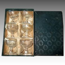 Boxed Set of Six Cut Crystal Individual Salt Dishes