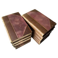 1811 - 10 Volume - The Modern Theatre - with 3/4 Calf Leather Bindings