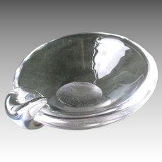 Beautiful Steuben Sloped Bowl Ashtray