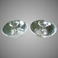 Matched Pair of Steuben Candle Holders