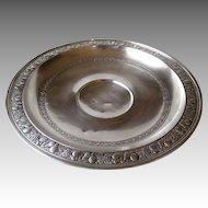Stunning Large Gorham Sterling Silver Bowl with Embossed Fruit Rim