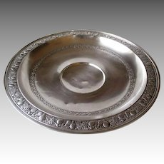 Stunning Large Gorham Sterling Silver Bowl with Embossed Fruit Rim
